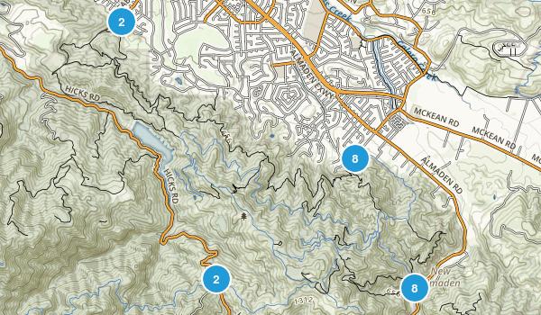 Almaden Quicksilver County Park Map