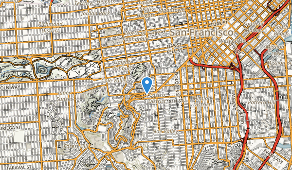 trail locations for Corona Heights Park