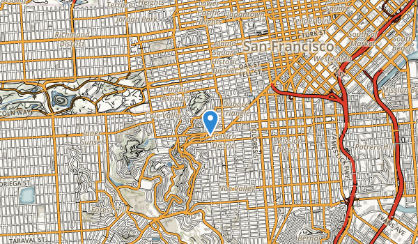 Corona Heights Park Map