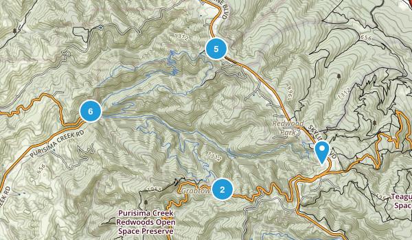 Purisima Creek Redwoods Open Space Preserve Map