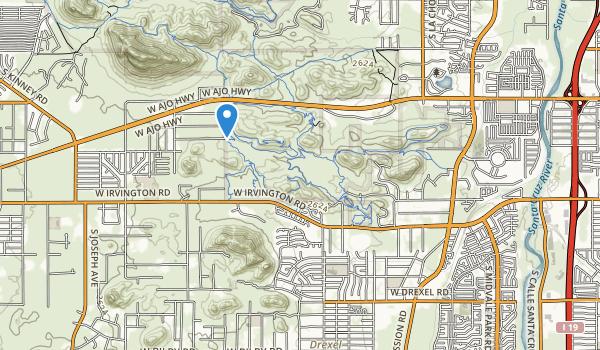 trail locations for Winston Reynolds-Manzanita Park