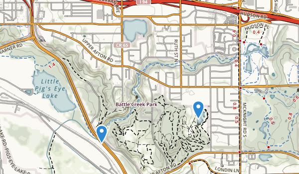 Battle Creek Indian Mounds Park Map