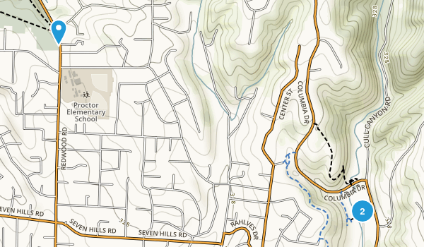 Cull Canyon Regional Recreation Area Map