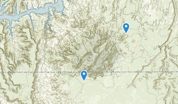 trail locations for Rainbow Bridge National Monument