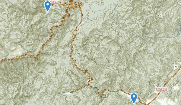 Shining Rock Wilderness - Pisgah N.F. Map