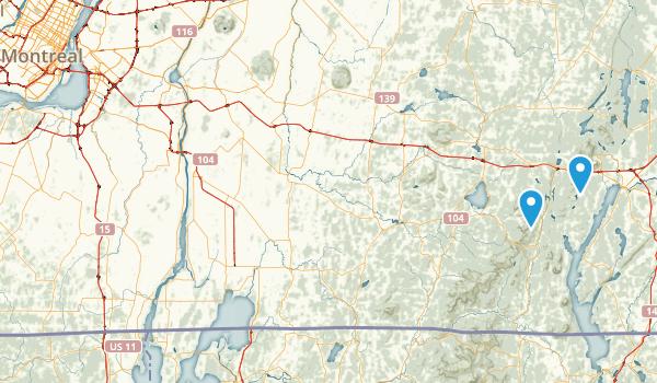 Les Sentiers de l'Estrie inc. Map