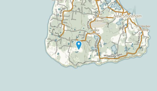 Rodman's Hollow Nature Preserve Map