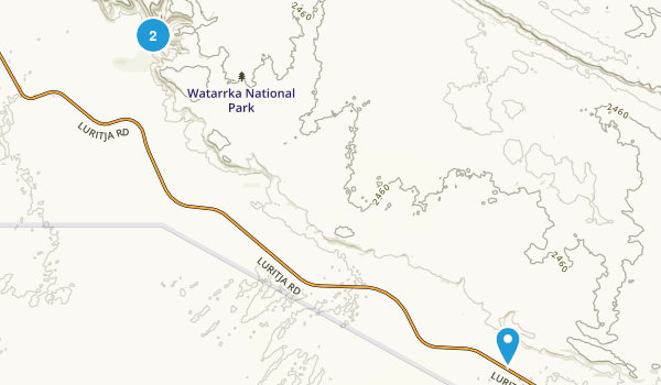 Watarrka National Park Map