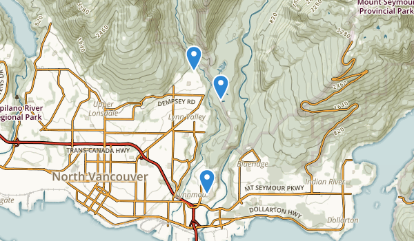 Lower Seymour Conservation Reserve Map