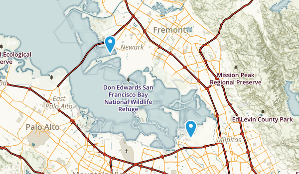 don edwards san francisco bay national wildlife refuge map