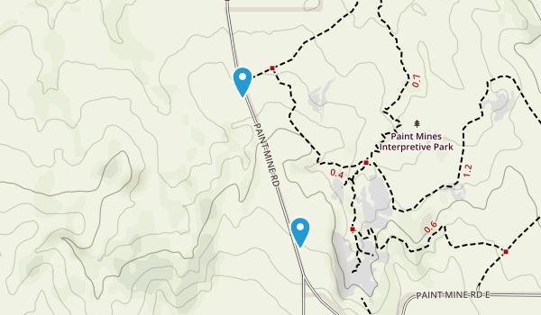 Paint Mines Interpretive Park Map