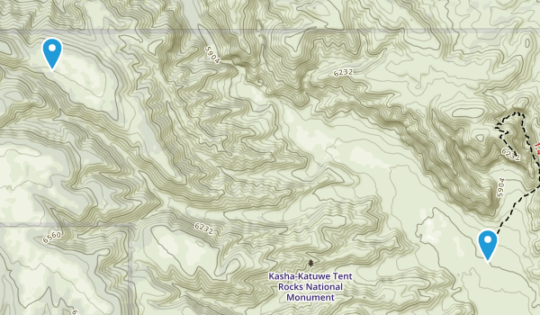 Kasha-Katuwe Tent Rocks National Monument Map