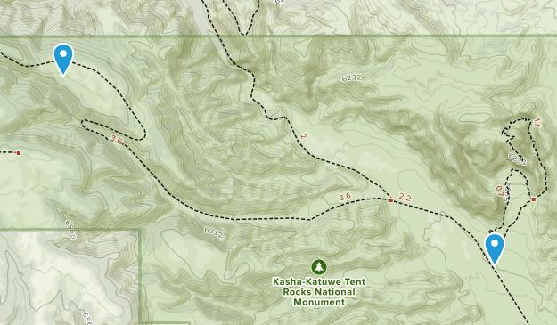 Kasha-Katuwe Tent Rocks National Monument Map