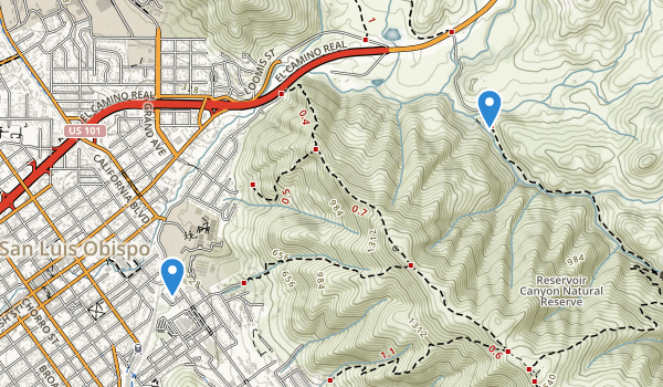 Reservoir Canyon Natural Reserve Map