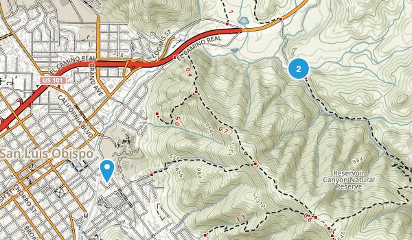 Reservoir Canyon Natural Reserve Map