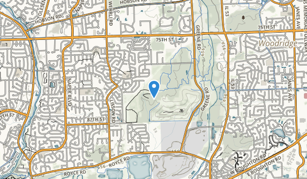 Greene Valley Forest Preserve, Naperville Map