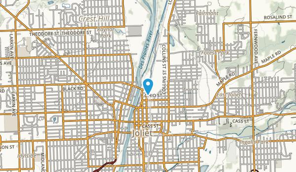 Joliet Iron Works Historic Site, Joliet Map