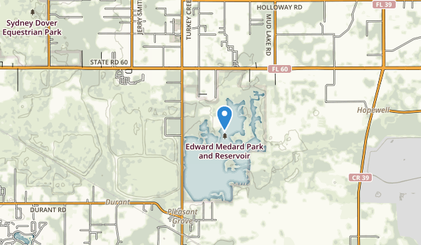 Edward Medard Park and Reservoir Map