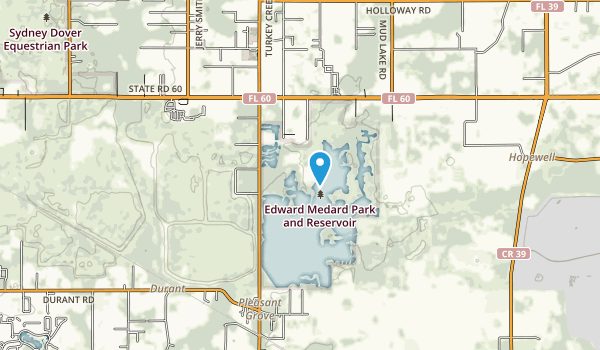 Edward Medard Park and Reservoir Map