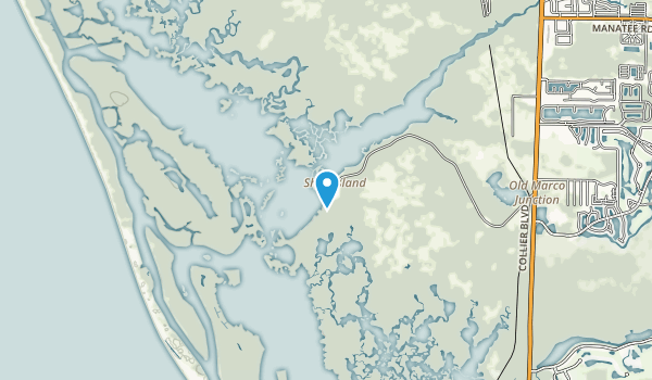 Rookery Bay Research Area Map