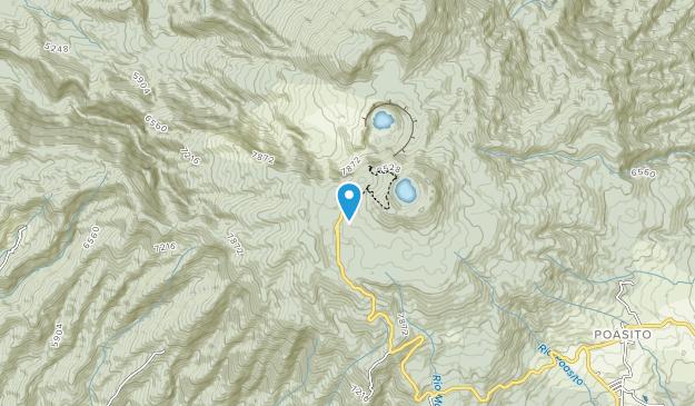Parque Nacional Volcán Poás Map