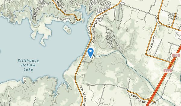 Chalk Ridge Falls Park Map