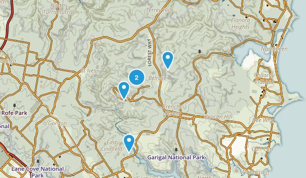 Garigal National Park Map