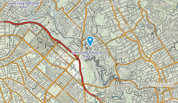 Lane Cove National Park Map