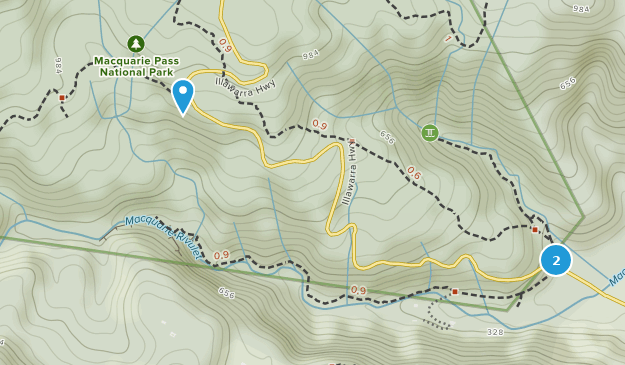 Macquarie Pass National Park Map