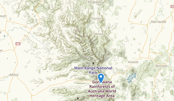 Main Range National Park Map