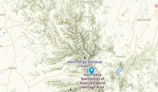 Main Range National Park Map