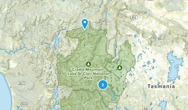 Cradle Mountain-Lake St Clair National Park Map