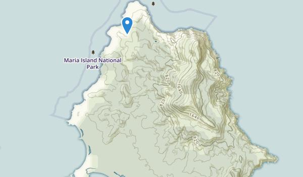 Maria Island National Park Map