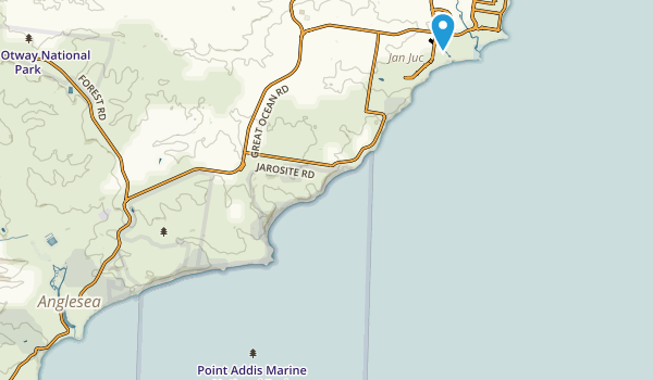 Point Addis Marine National Park Map