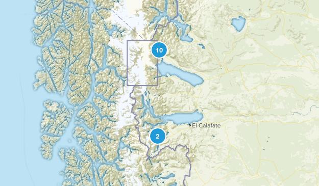 Los Glaciares National Park Map
