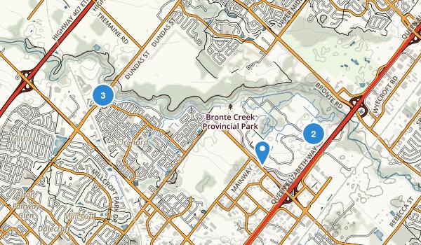 Bronte Creek Provincial Park Map