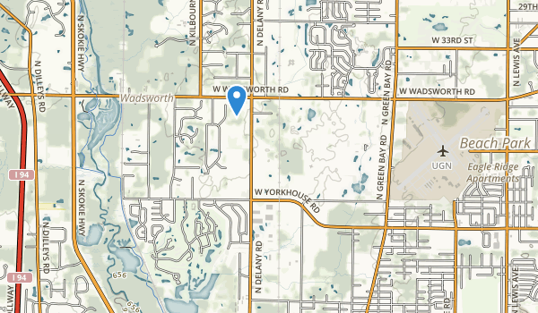 Waukegan Savanna Forest Preserve Map
