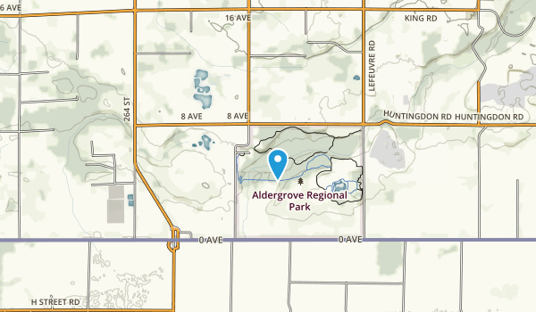 Aldergrove Regional Park Map