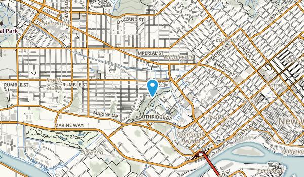 Byrne Creek Ravine Park Map