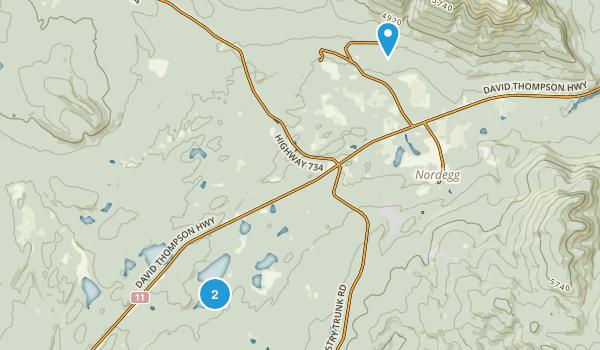 Fish Lake Provincial Recreation Area Map