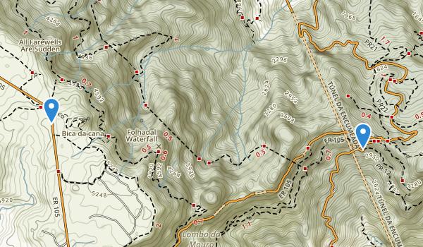 Parque Natural Da Madeira Map