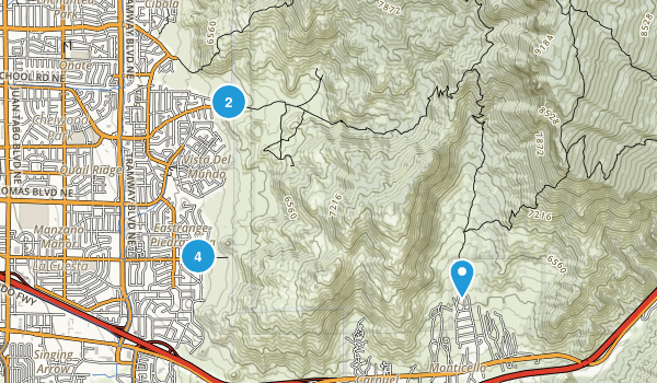 Sandia Foothills Open Space Map