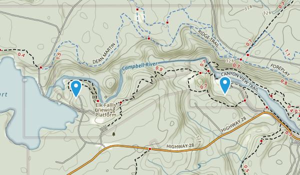 Elk Falls Provincial Park Map