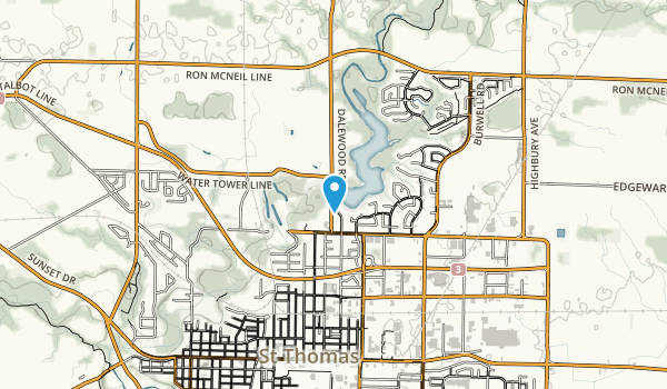 Dalewood Reservoir Trail Map