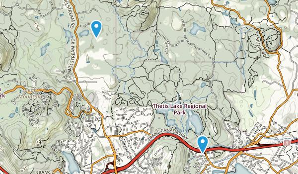 Thetis Lake Regional Park Map