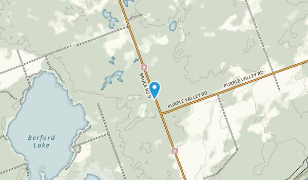 Bruce Peninsula Mountain Bike Adventure Park  Map