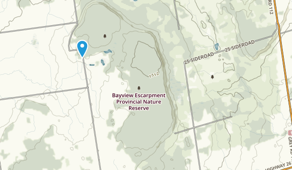 Bayview Escarpment Provincial Nature Reserve Map
