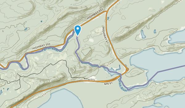 Middle Falls Provincial Park Map
