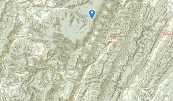 Seneca Rocks National Recreation Area Map