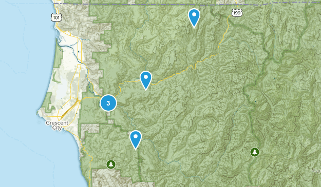 Smith River National Recreation Area Map